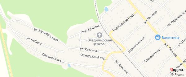 Переулок Красина на карте поселка Клетня с номерами домов