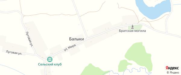 Улица Мира на карте села Балыки с номерами домов