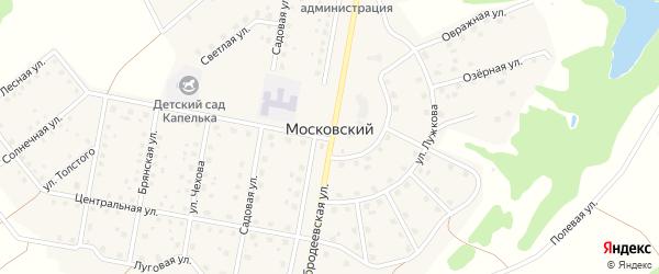 Стриговский переулок на карте Московского поселка с номерами домов