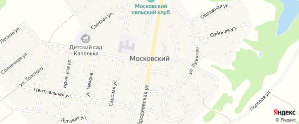 Озерный переулок на карте Московского поселка с номерами домов