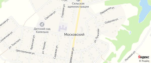 Добродеевская улица на карте Московского поселка с номерами домов