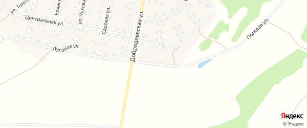 Полевая улица на карте Московского поселка с номерами домов