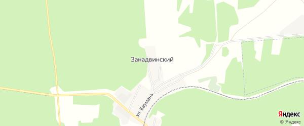 Карта Занадвинского поселка в Брянской области с улицами и номерами домов