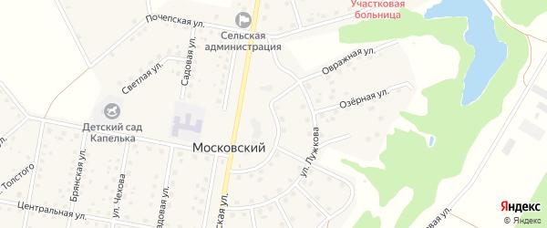 Кооперативная улица на карте Московского поселка с номерами домов