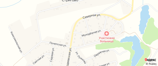 Переулок Вадима Ермакова на карте Московского поселка с номерами домов