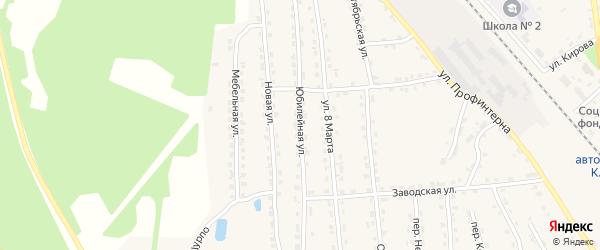 Юбилейная улица на карте поселка Клетня с номерами домов