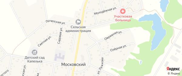 Улица Лужкова на карте Московского поселка с номерами домов