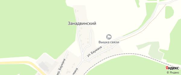 Взлетная улица на карте Занадвинского поселка с номерами домов
