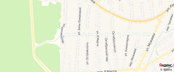 Улица Островского на карте поселка Клетня с номерами домов