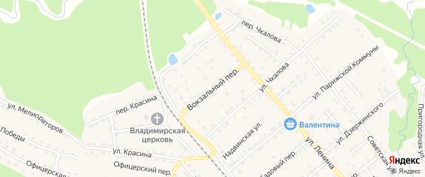 Вокзальный переулок на карте поселка Клетня с номерами домов