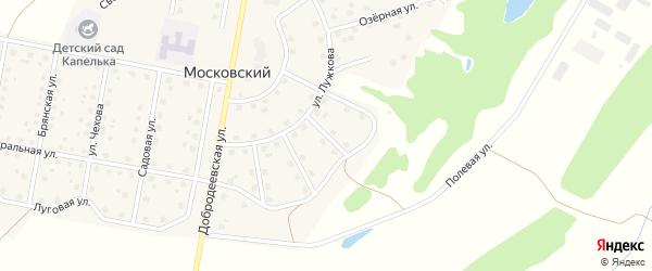Вишневый переулок на карте Московского поселка с номерами домов