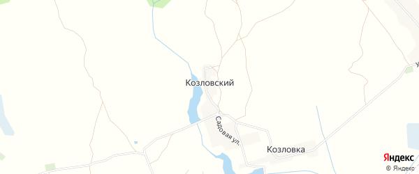 Карта Козловского поселка в Брянской области с улицами и номерами домов
