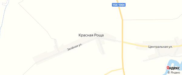 Карта поселка Красной Рощи в Брянской области с улицами и номерами домов