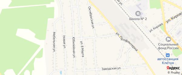 Переулок Профинтерна на карте поселка Клетня с номерами домов