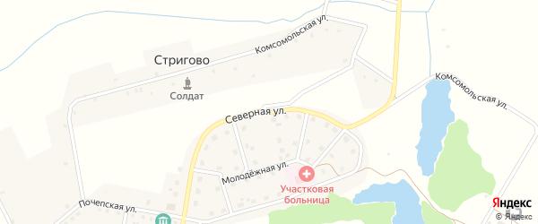 Северная улица на карте Московского поселка с номерами домов