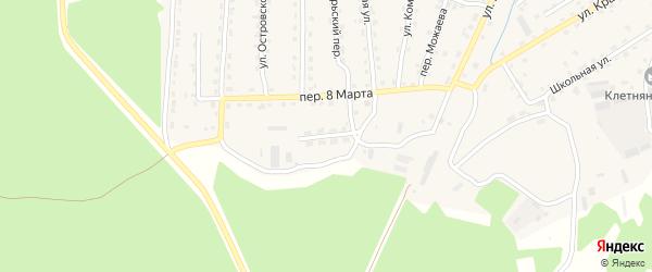 Улица Медведева на карте поселка Клетня с номерами домов