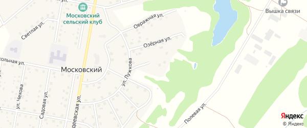 Березовая улица на карте Московского поселка с номерами домов