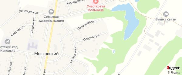 Озерная улица на карте Московского поселка с номерами домов