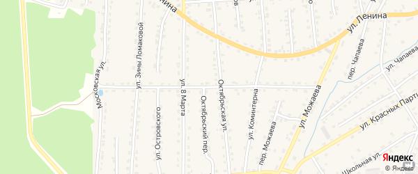 Улица Ворошилова на карте поселка Клетня с номерами домов