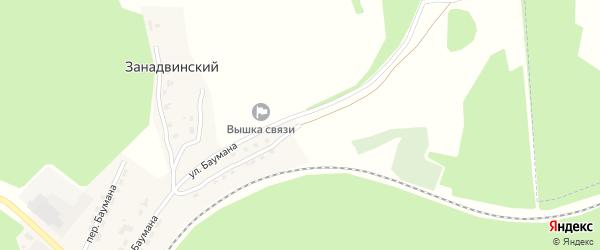 Улица Баумана на карте поселка Клетня с номерами домов