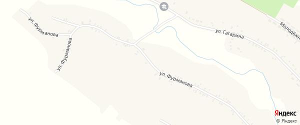 Улица Фурманова на карте деревни Гриневочки с номерами домов