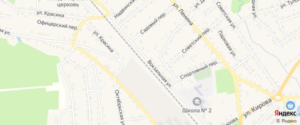 Вокзальная улица на карте поселка Клетня с номерами домов