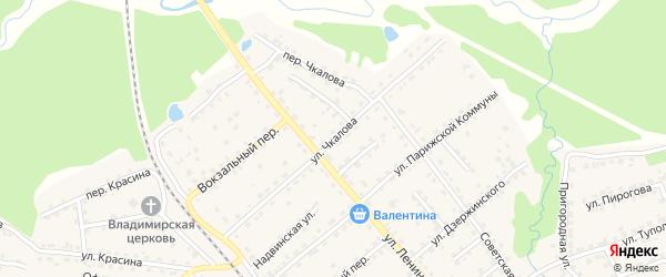 Улица Чкалова на карте поселка Клетня с номерами домов