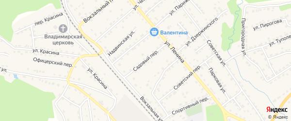 Садовый переулок на карте поселка Клетня с номерами домов