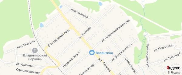 Трудовой переулок на карте поселка Клетня с номерами домов
