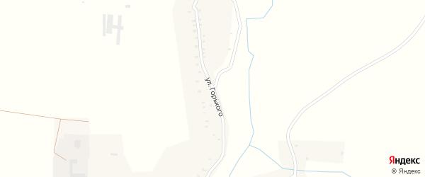 Улица Горького на карте села Дареевска с номерами домов