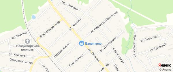 Улица Парижской Коммуны на карте поселка Клетня с номерами домов