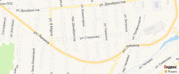 Улица Стаханова на карте поселка Клетня с номерами домов