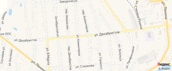 Улица Декабристов на карте поселка Клетня с номерами домов