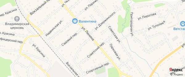 Улица Ленина на карте поселка Клетня с номерами домов