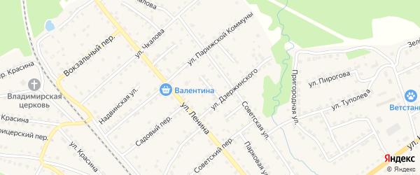 Переулок Дзержинского на карте поселка Клетня с номерами домов