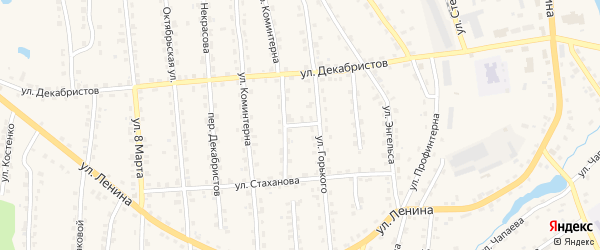 Переулок Суворова на карте поселка Клетня с номерами домов