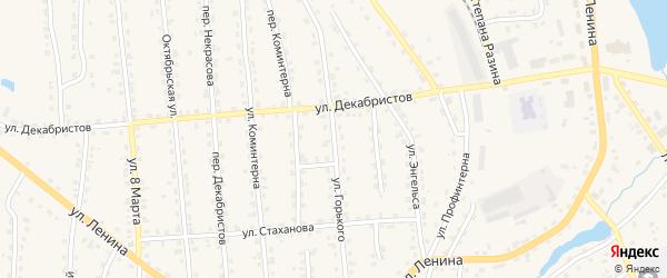Улица Горького на карте поселка Клетня с номерами домов