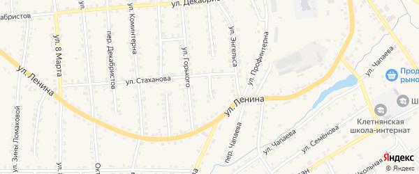 Переулок Стаханова на карте поселка Клетня с номерами домов