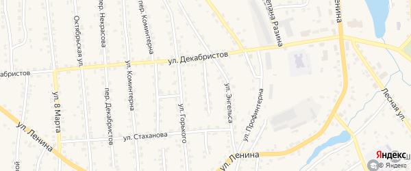 Переулок Энгельса на карте поселка Клетня с номерами домов