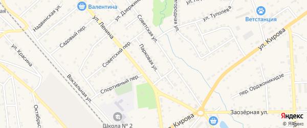 Парковая улица на карте поселка Клетня с номерами домов