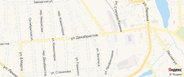 Улица Энгельса на карте поселка Клетня с номерами домов