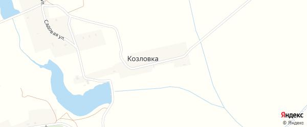 Школьная улица на карте деревни Козловки с номерами домов