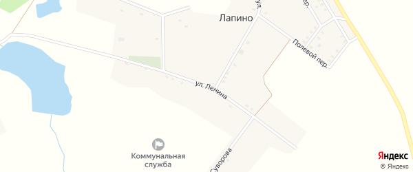 Улица Ленина на карте села Лапино с номерами домов