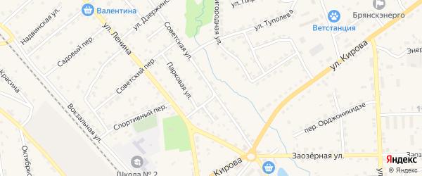 Советская улица на карте поселка Клетня с номерами домов