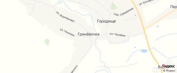 Карта деревни Гриневочки в Брянской области с улицами и номерами домов