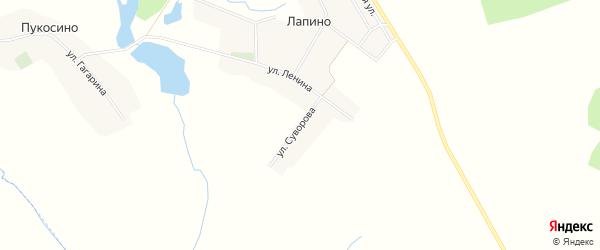 Карта села Лапино в Брянской области с улицами и номерами домов