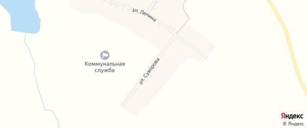 Полевой переулок на карте села Лапино с номерами домов
