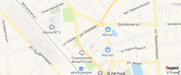 Комсомольская улица на карте поселка Клетня с номерами домов