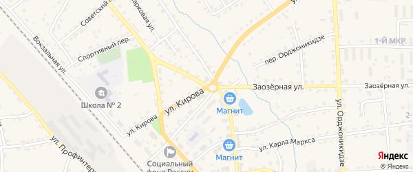 Переулок Кирова на карте поселка Клетня с номерами домов