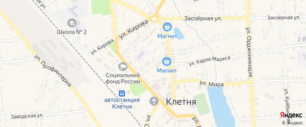 Переулок Ленина на карте поселка Клетня с номерами домов